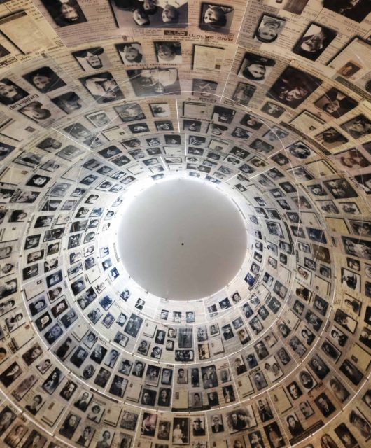 The conical ceiling of the Hall of Names is pictured during a visit by U.S. President Barack Obama (not pictured) at the Yad Vashem Holocaust Memorial in Jerusalem, March 22, 2013.   REUTERS/Jason Reed   (JERUSALEM - Tags: POLITICS)